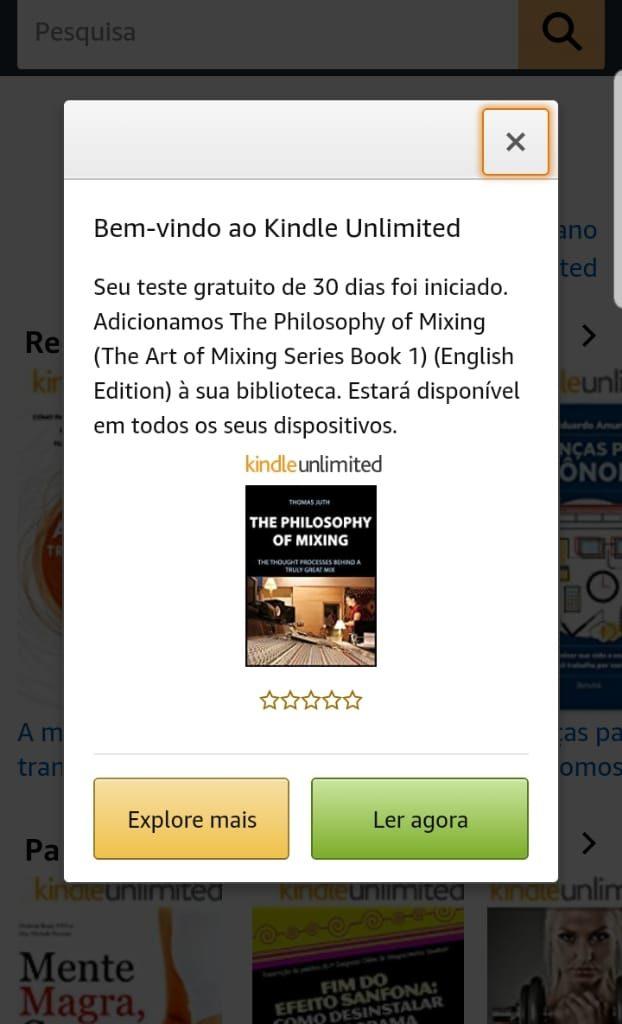 kindle unlimited para ler livros